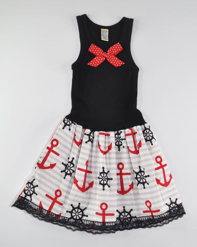 Sweet Sailor Tank Dress