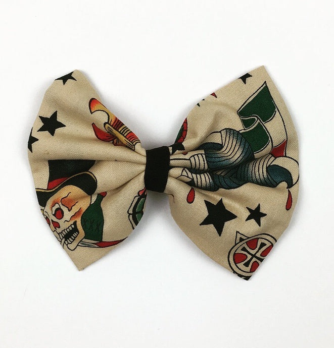 Tan Tattoo Flash Hair Bow