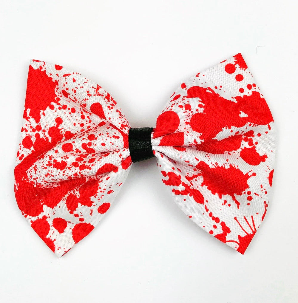 Blood Spatter Hair Bow