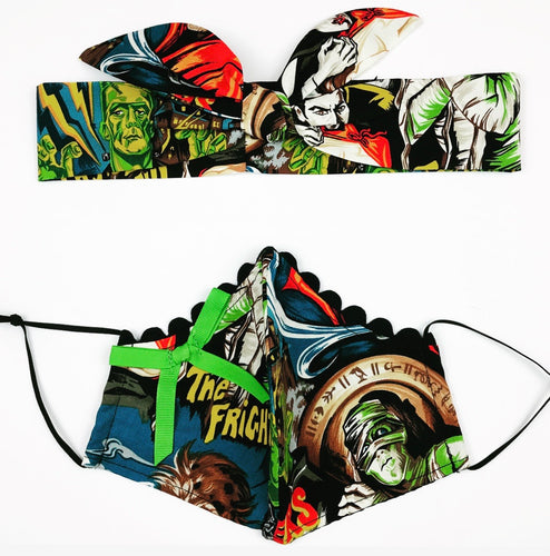 Monster Petite Designer Mask Headband Set