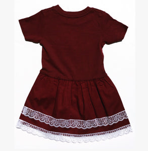 Punk Doll Dress Burgundy