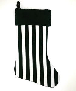 Beetleguese Striped Christmas Stocking
