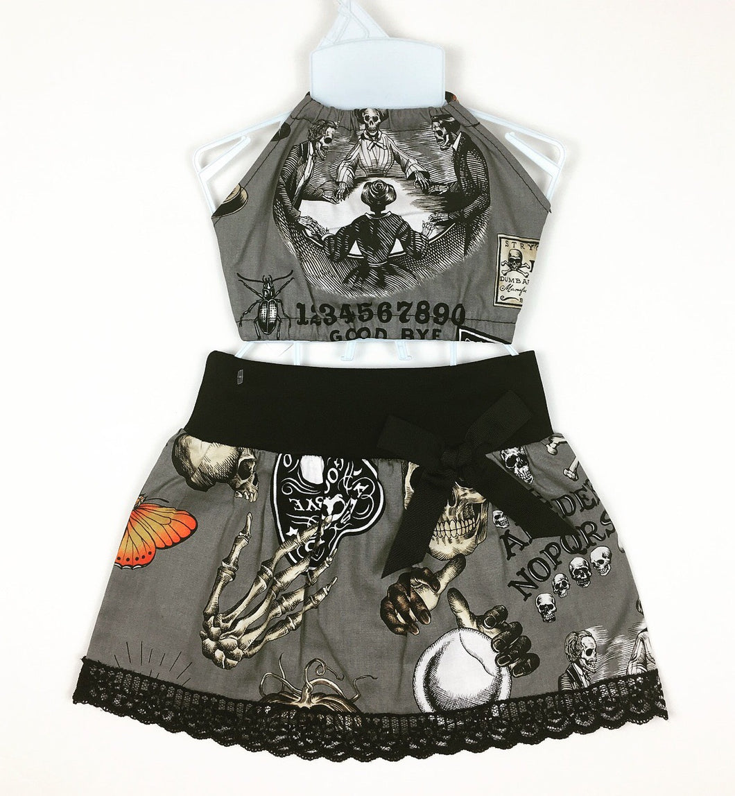 Ouija Gray Skirt and Haulter Set