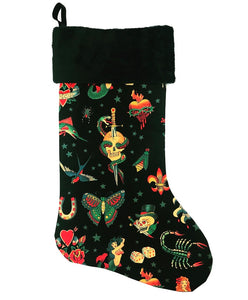 Black Tattoo Christmas Stocking