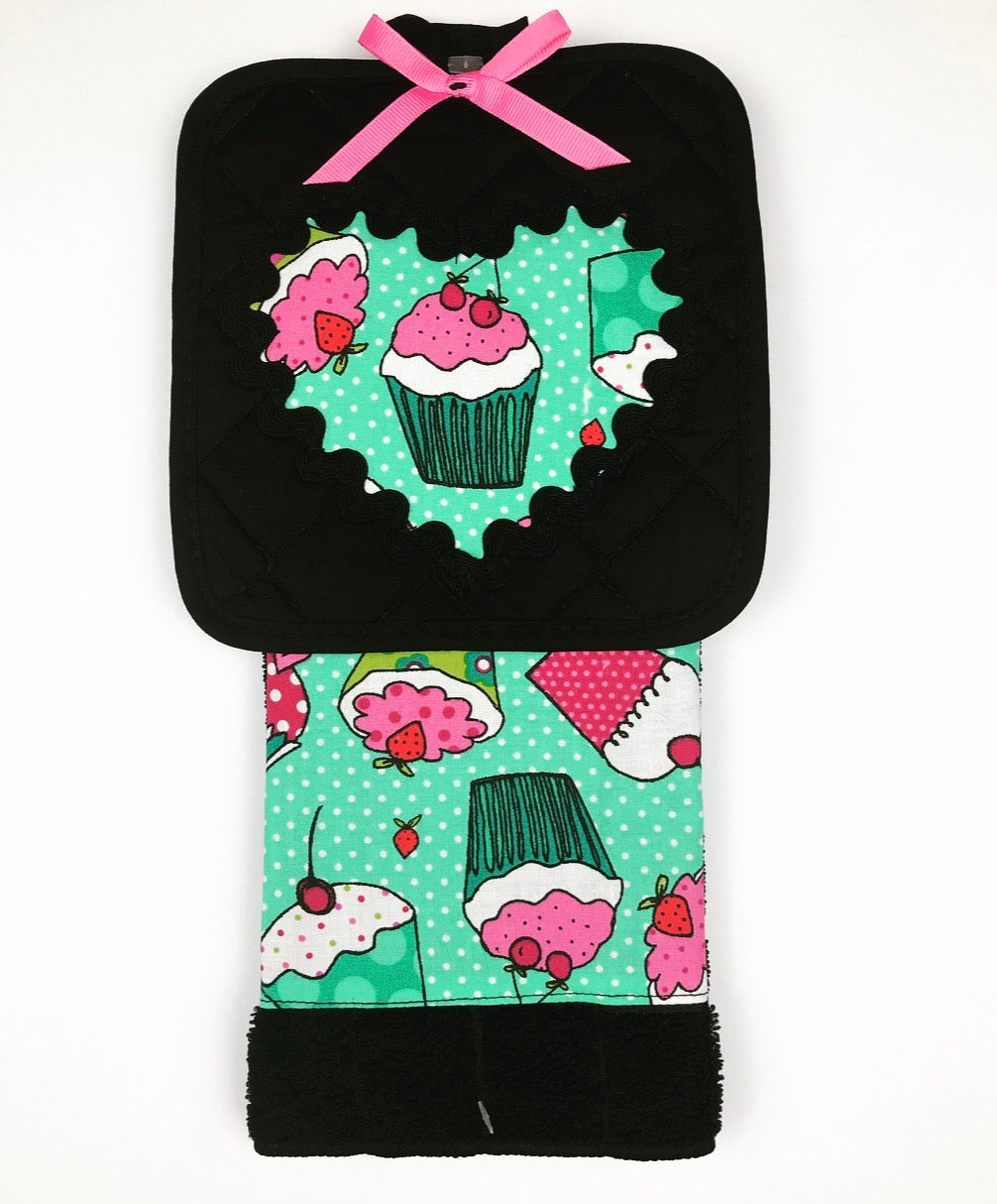 Cupcake Kitchen Towel Set