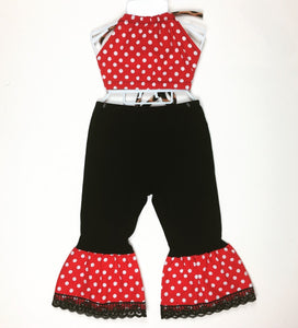 Polka Dot Bratz Bell Bottoms (red) and Haulter