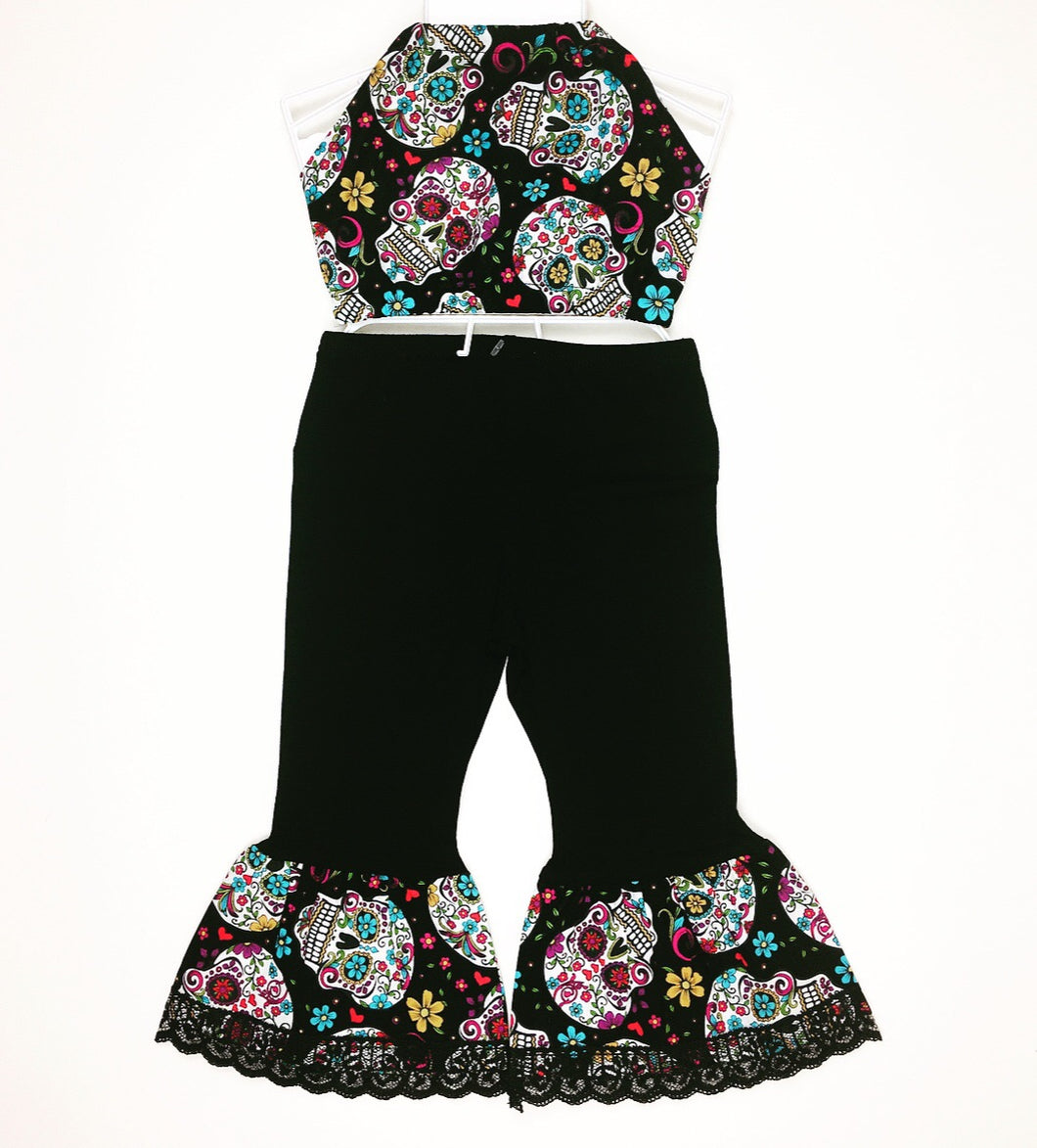 Sugar Skull Bratz Bottoms and Haulter Set
