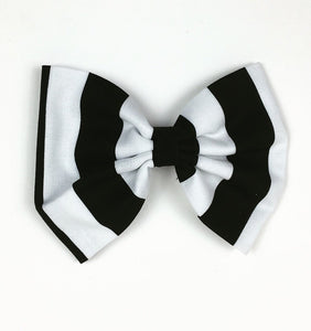 Beetleguese Striped Hair Bow