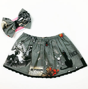Ouija Gray Skirt & Headband Set