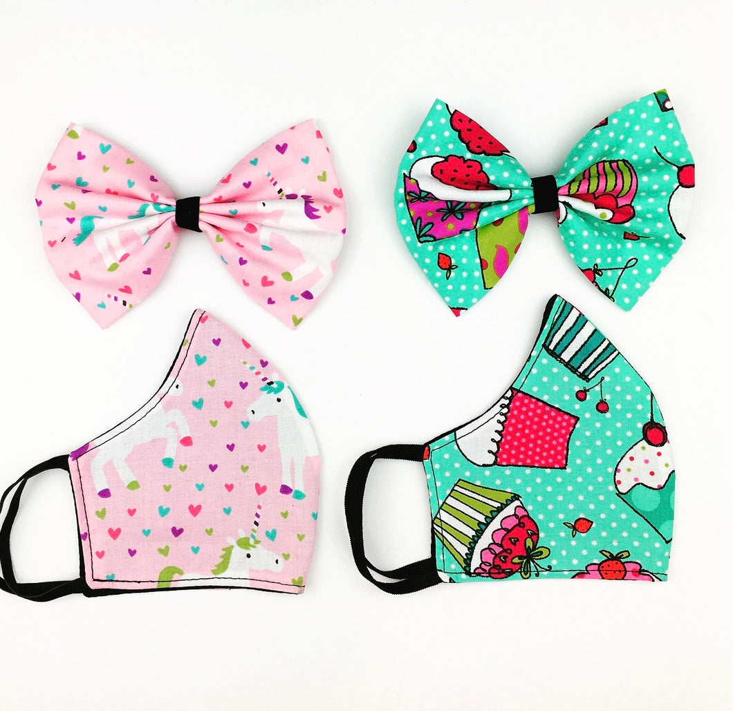 Quirky Mask/ Bow Set