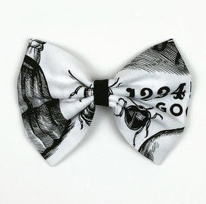 Ouija Blk and Wht Hair Bow