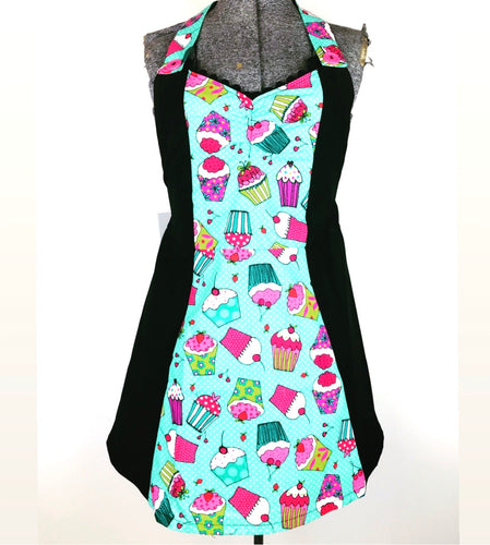 Cupcake Kreepy Kitchen Womans Apron