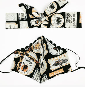 Creepy Poison Petite Designer Mask Headband Set