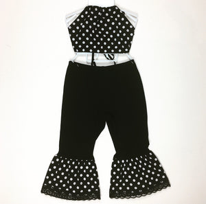 Polka Dot Blk Bratz Bottoms and Haulter Set