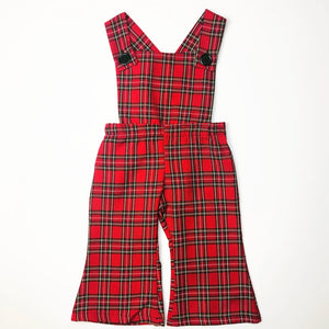 Red Tartan Plaid Overalls