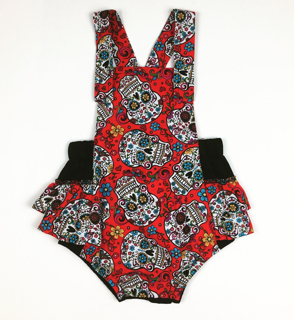 Sugar Skull Romper(red)