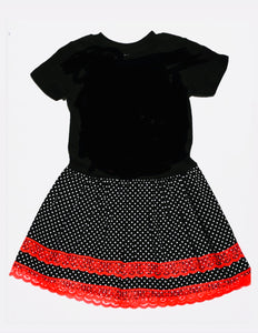 Punk Doll Dress  Blk Small Poko