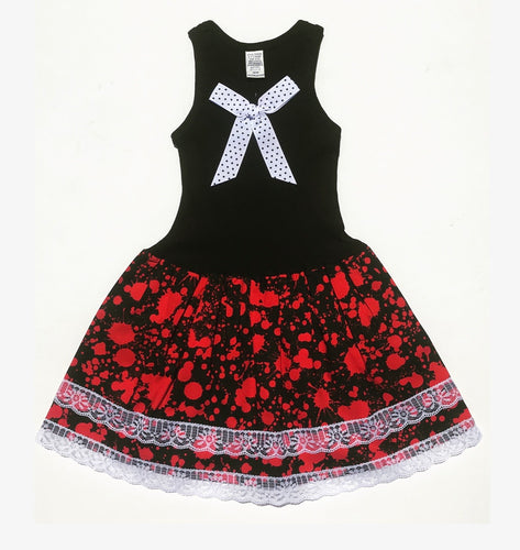 Red Blood Spatter Tank Dress
