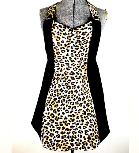 Leopard Print Kreepy Kitchen Womans Apron