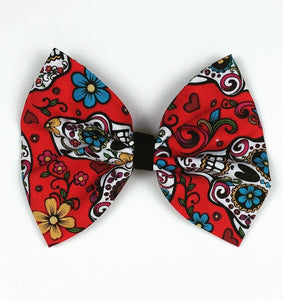 Sugar Skull Red Hair Bow
