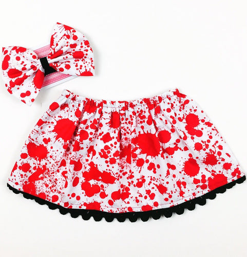 Zombie Blood Spattered Skirt and Headband Set