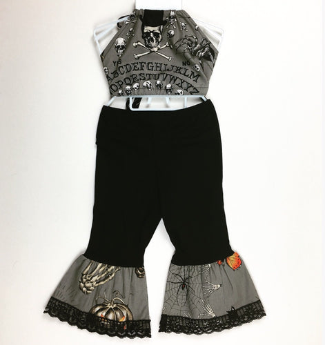Ouija Grey Brats Bottoms and Haulter Set