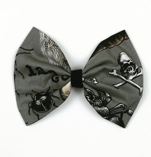Ouija Gray Hair Bow