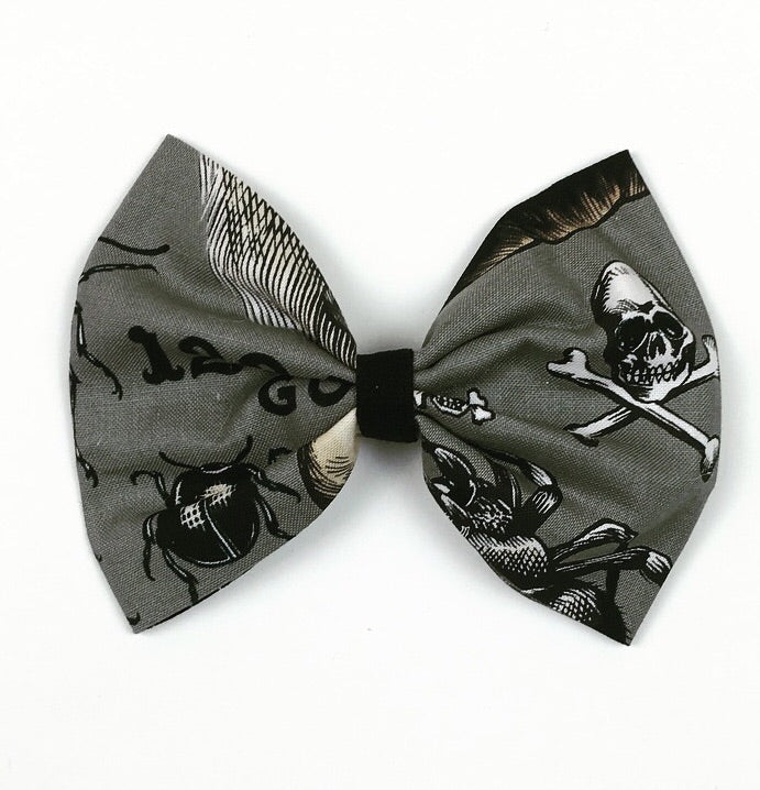 Ouija Grey Hair Bow