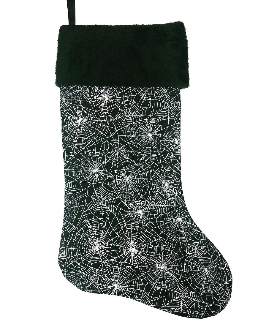 Black Web Christmas Stocking