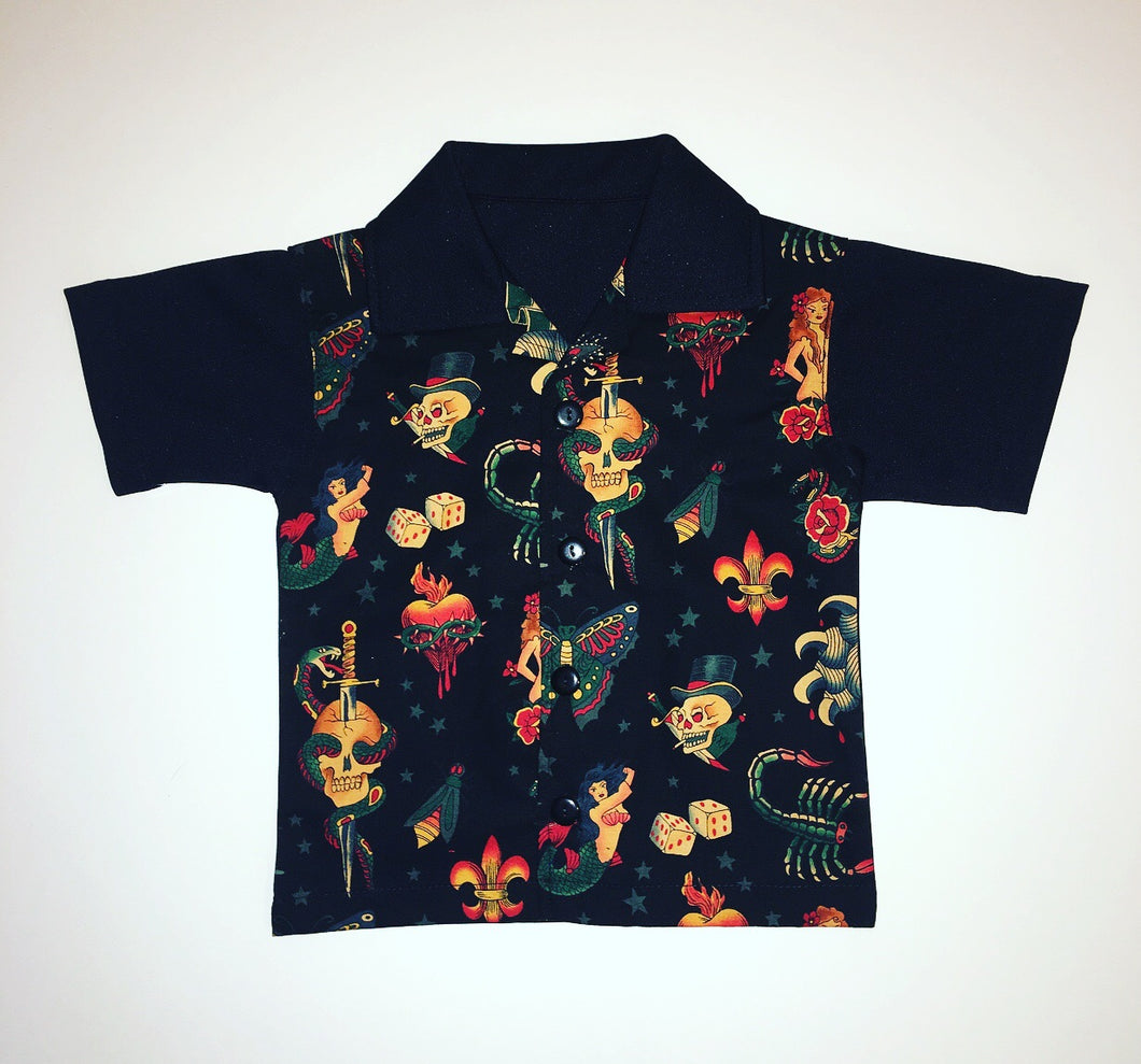 Black Tattoo Flash Lounge Shirt