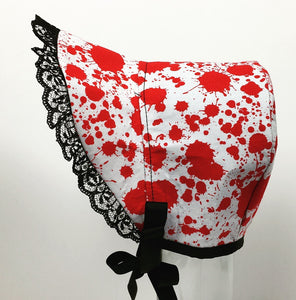 Zombie Blood Hand Made Baby Bonnet