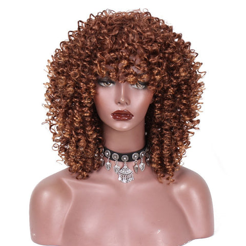 Natural Curly Short Hair Wig - Hair Triss