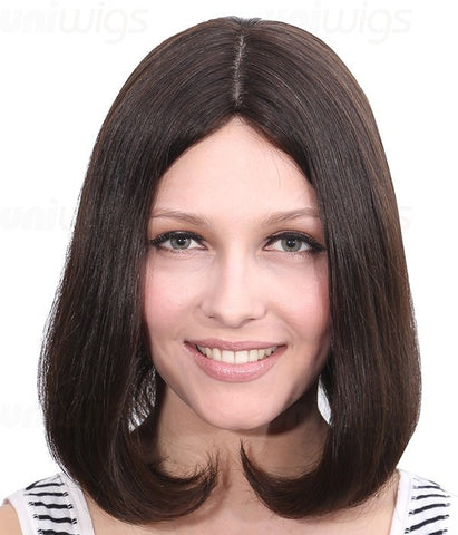"Dana 12"" Remy Human Hair Injected Skin Top Jewish Wig - Hair Triss"
