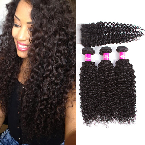 Brazilian Virgin Curly Human Hair Weaves - Hair Triss