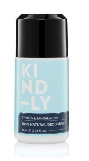 Kind-ly Cypress & Sandalwood 100% Natural Deodorant (60ml)