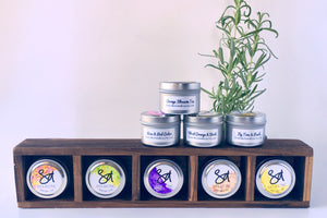 small soy travel candle tins