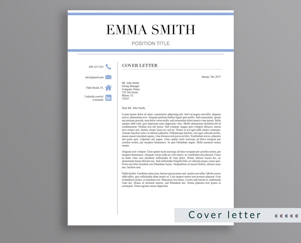 Professional Resume Template Emma Smith - Outperforming Designs