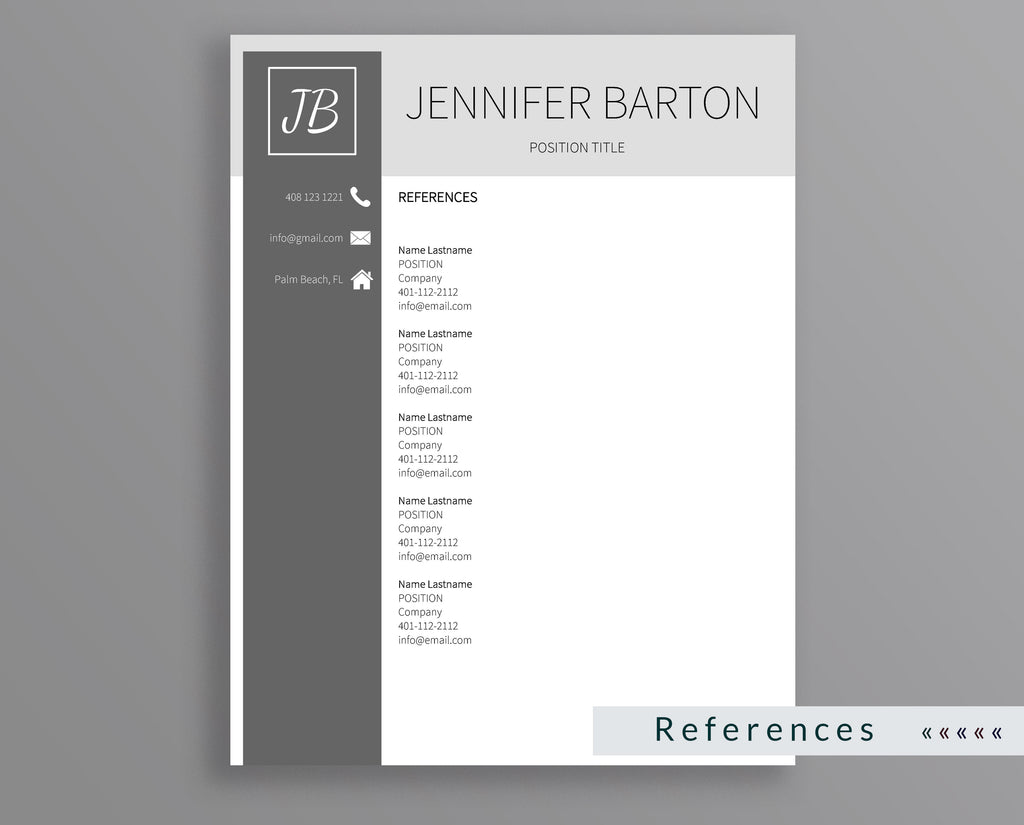 Professional Resume Template Jennifer Barton – Outperforming Designs