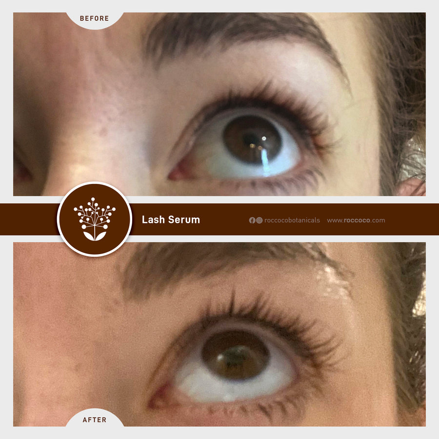 Roccoco Botanicals RB Natural Lashes Before and After