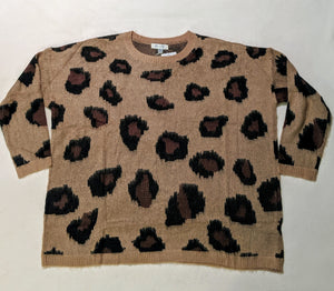Leopard One Size Sweater