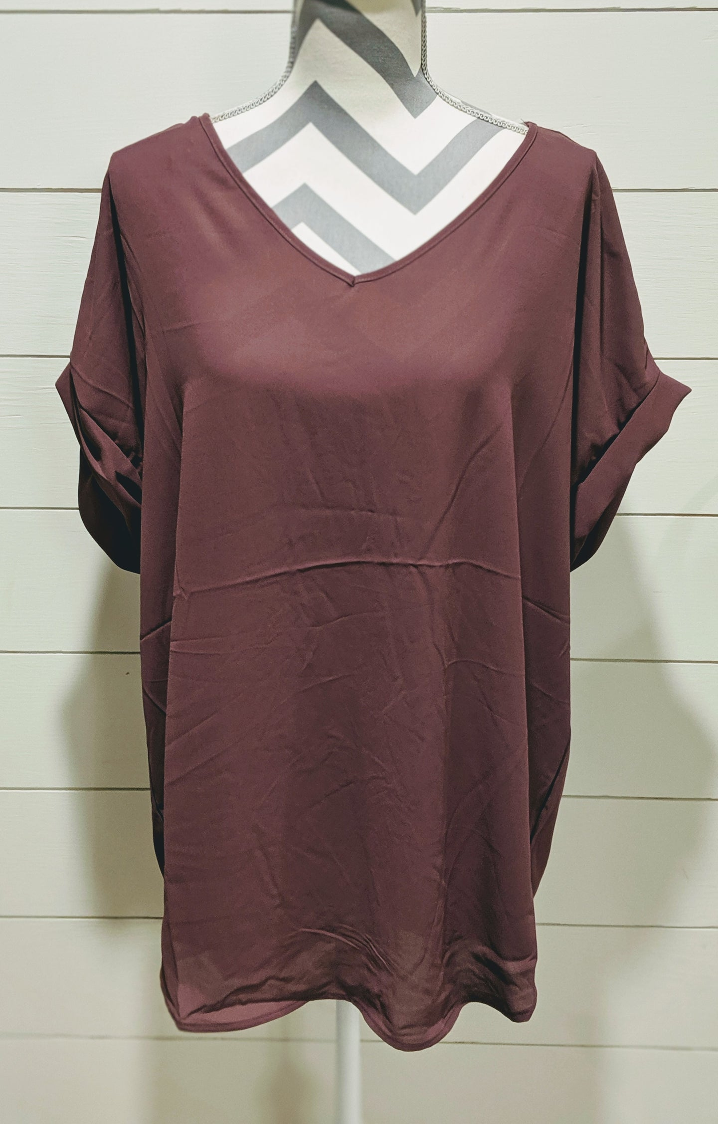 Cuffed Sleeve VNeck