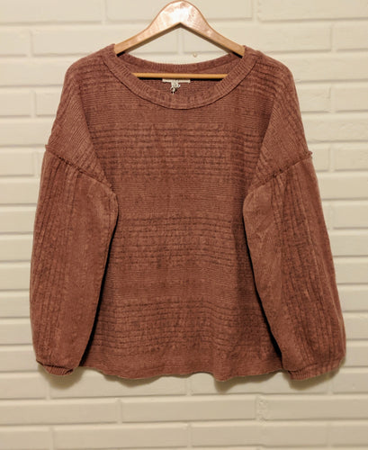 Mauve Plus Puff Sleeve
