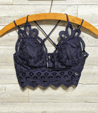 Load image into Gallery viewer, Navy Bralette