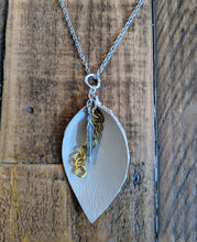 Load image into Gallery viewer, Silver un-be-leafable charm necklace