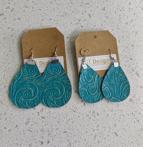 Turquoise Leather Stamp