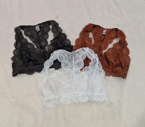 All the Lace Racerback Bralette
