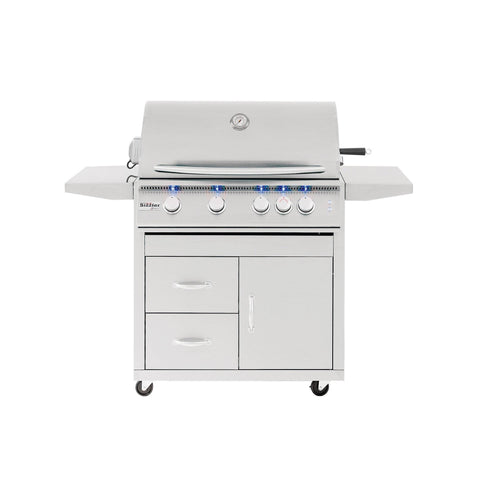 "Summerset Sizzler Pro 32"" Built-in Grill - SIZPRO32-NG - JwGrills"
