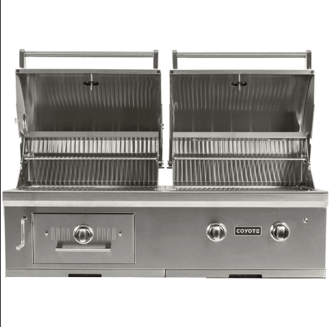 Coyote Centaur 50-Inch Built-In Propane Gas/Charcoal Dual Fuel Grill - C1HY50LP - JwGrills