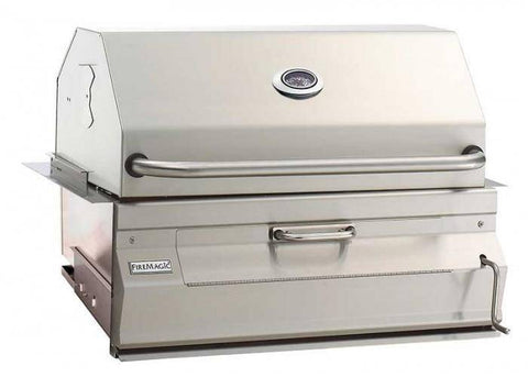 "Fire Magic Charcoal Slide In Barbecue Grill with 30"" Smoker Hood - 14-SC01C-A - JwGrills"