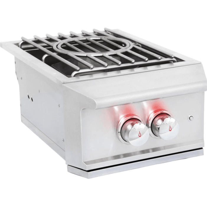 Blaze Professional Built-In Propane Gas High Performance Power Burner W/ Wok Ring & Stainless Steel Lid - BLZ-PROPB-LP - JwGrills